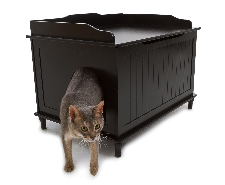 amazoncom designer catbox litter box enclosure in black cat litter boxes pet supplies catbox litter box enclosure