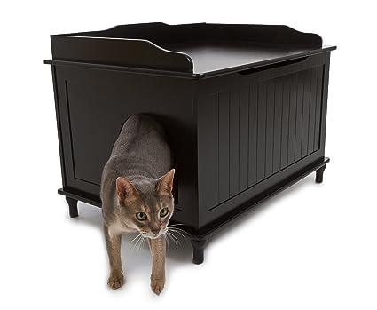 Beau Designer Catbox Litter Box Enclosure In Black