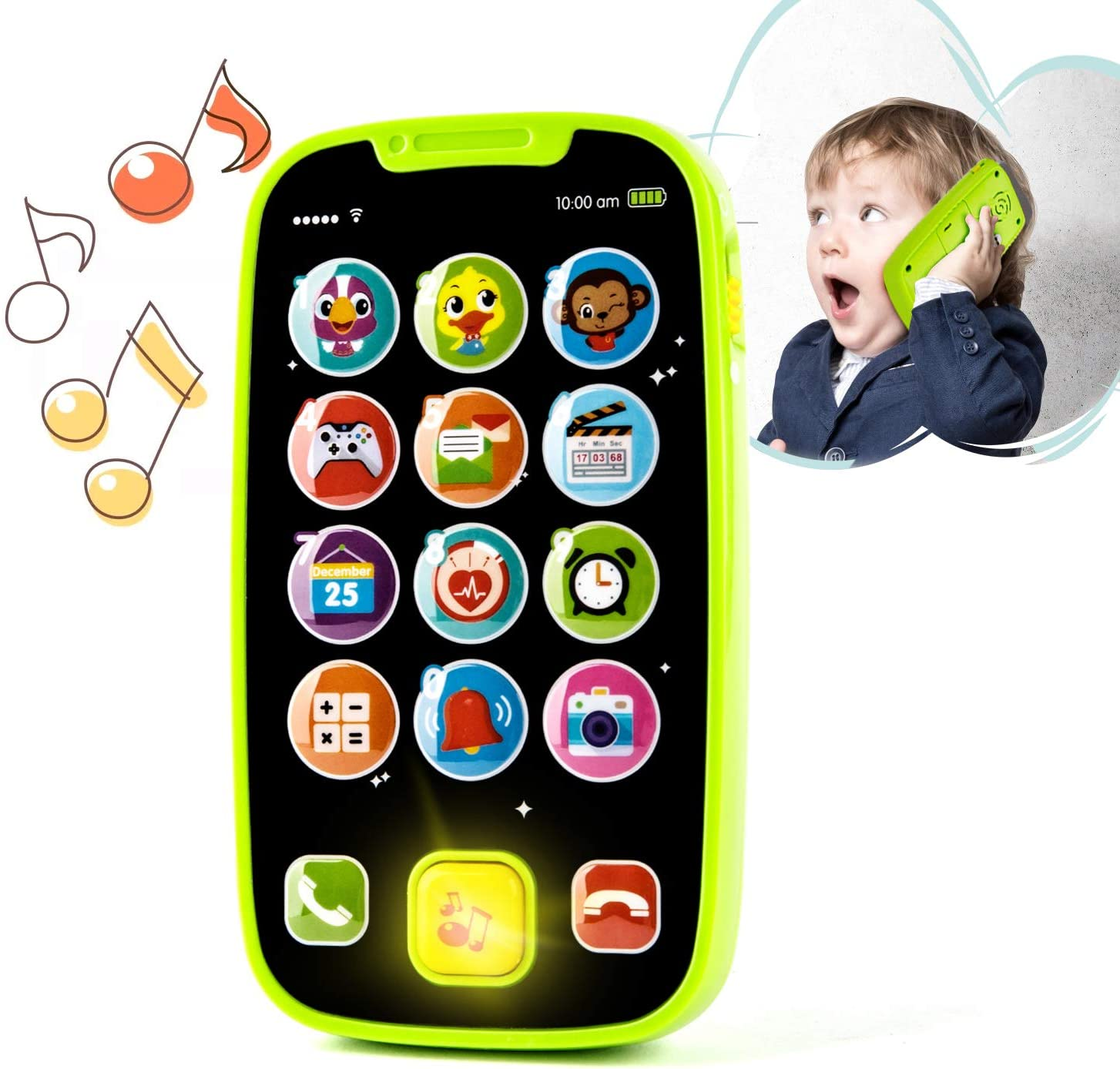 Electronic Toy Phone For Children Baby Mobile Elephone Educational Learning Toys