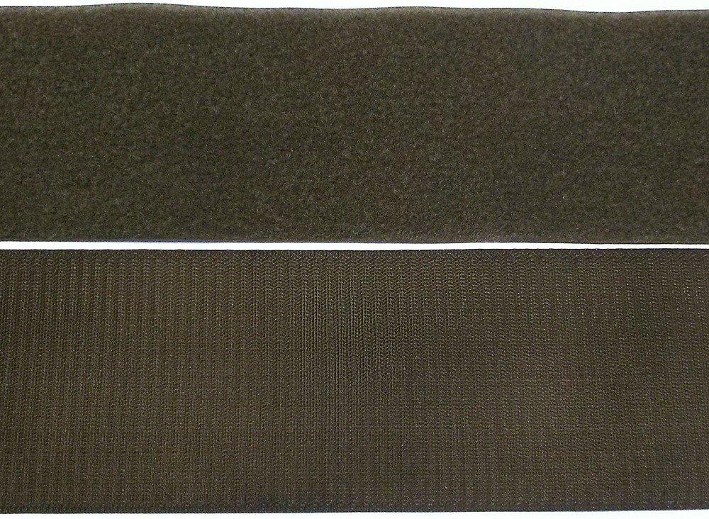 und Flauschband 30 mm oliv zum N/ähen Klettband Haken