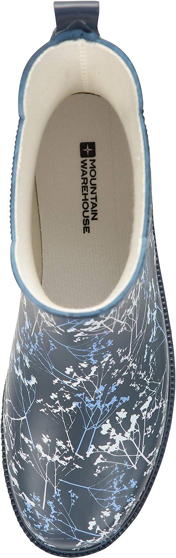 EVA Footbed guarnici/ón Suave de Las Lanas Mountain Warehouse Botines de Goma Impresos para Mujer Zapatos Impermeables para la Lluvia