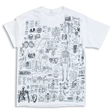 Amazon.com: ComputerGear Science Facts T Shirt Crib Cheat Sheet STEM ...