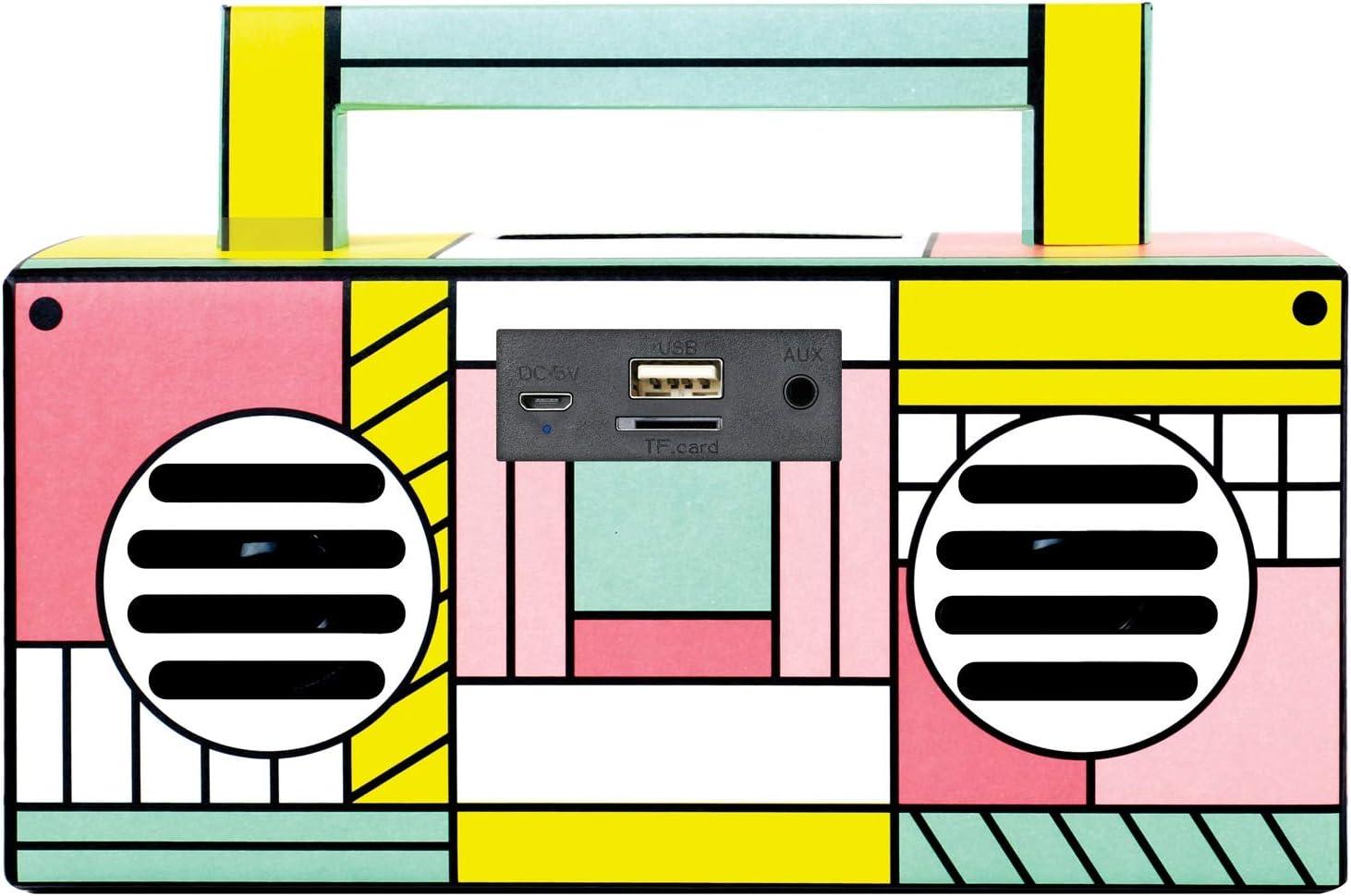 QFX BT-41-Flamingo Bluetooth Streaming TWS Ready Lightshow Speaker Pink Flamingo