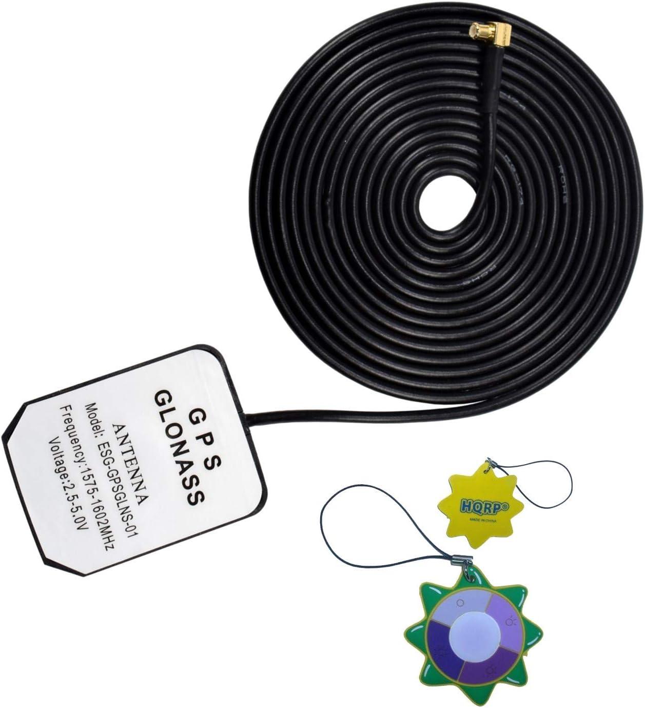 HQRP Antena Externa GPS amplificada 1575.42 MHz de Montaje magnético para Garmin Quest (010-00306-00) / Garmin Quest 2 (010-00454-00) + HQRP medidor del Sol
