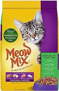 Meow Mix Original Choice Dry Cat Food, Heart Health & Oral Care Formula (24 lbs.)