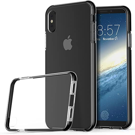 check out a54d4 f6824 IVSO iPhone X Case,[Scratch Resistant] Ultra-Thin Super Lightweight Premium  Frosted Shield Protection Cover Case for Apple iPhone X Smartphone (Black)