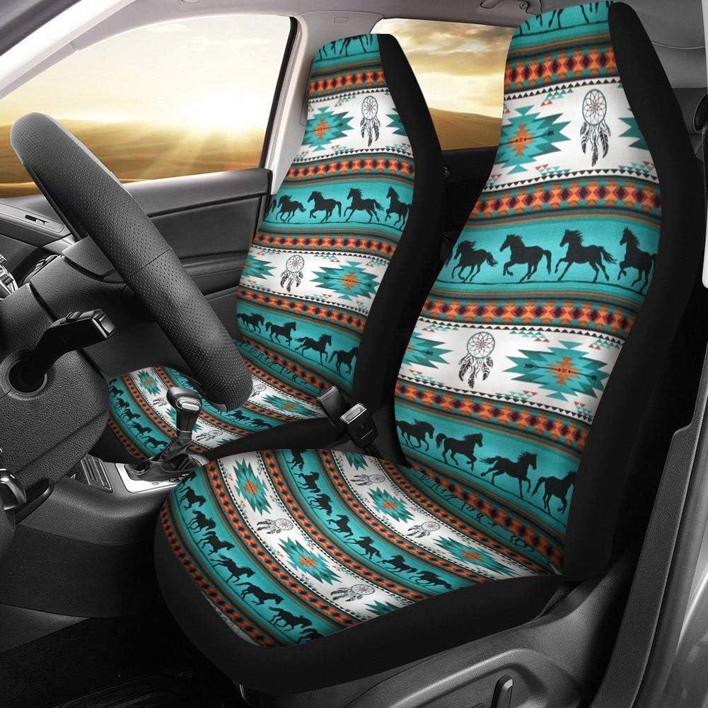 JoyLamoria Chic Sunflower Print Car Seat Covers 2 Piece Front Seat Protecor Cushion Fits Most Cars SUV or Van Air Bag Compatible Trunk Sedan