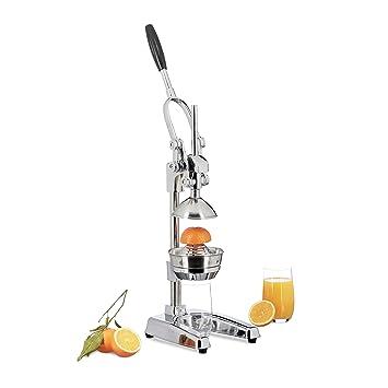 Compra Relaxdays exprimidor naranjas manual Z8, prensa profesional, en plateado en Amazon.es