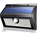 45 LED Security Solar Powered Light, ECHTPower Wireless Solar Motion Sensor Lights with 3 Intelligient Modes for Garden, Outdoor, Fence, Patio, Deck, Yard, Home, Driveway, Stairs, Outside Wall etc.