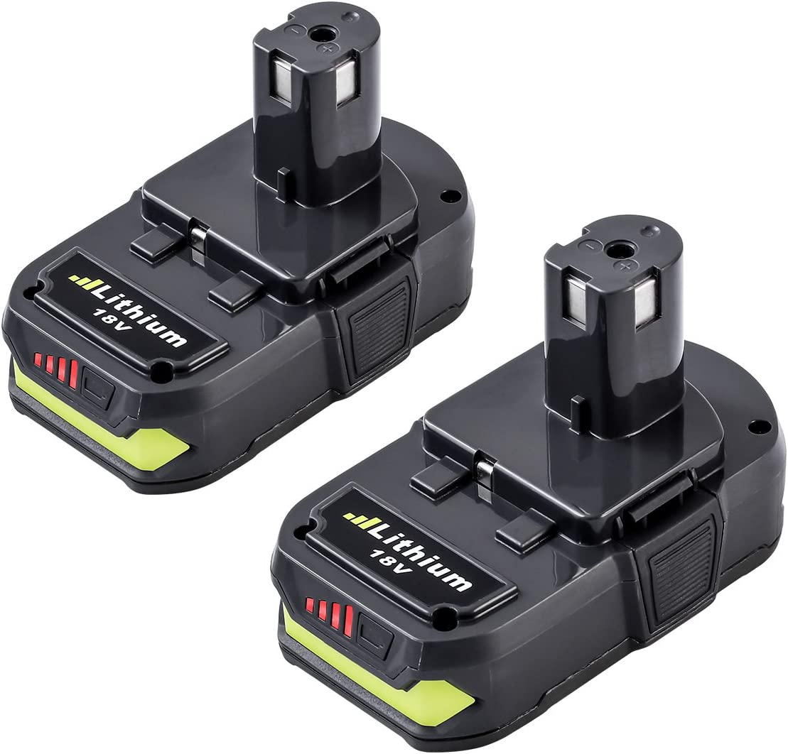 18V RB18L25 RB18L13 RB18L50 RB18L40 P102 P103 P104 P105 P106 P107 P108 2X FUNMALL Batteria al litio da 18V 2.5Ah sostitutive per RYOBI ONE