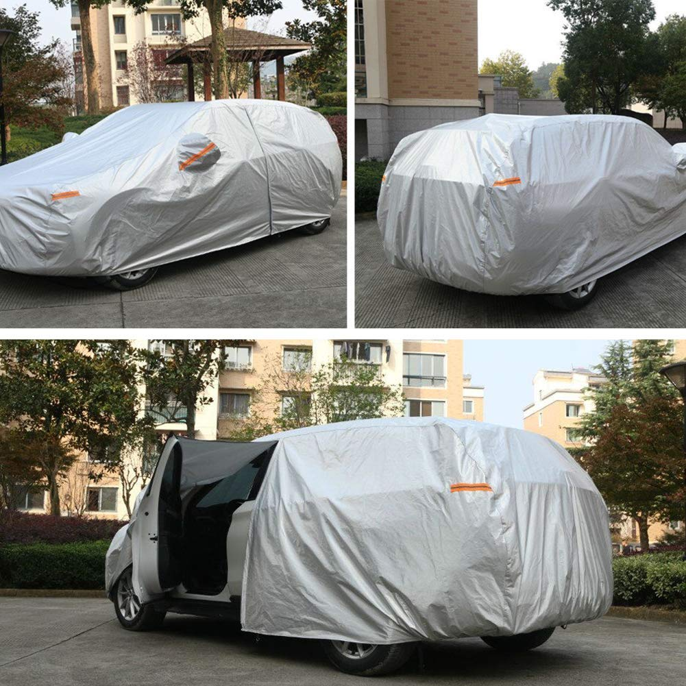 SUV) SEAZEN Car Cover Waterproof All Weather,Full car Covers UV Protection//Snowproof//Dustproof,Universal car Cover 5 Layer Breathable Fabric with Cotton(193 L x 76 W x 59 H