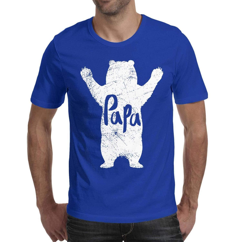 Bertonmonroe Father S Day Papa Bear Solid T Shirts
