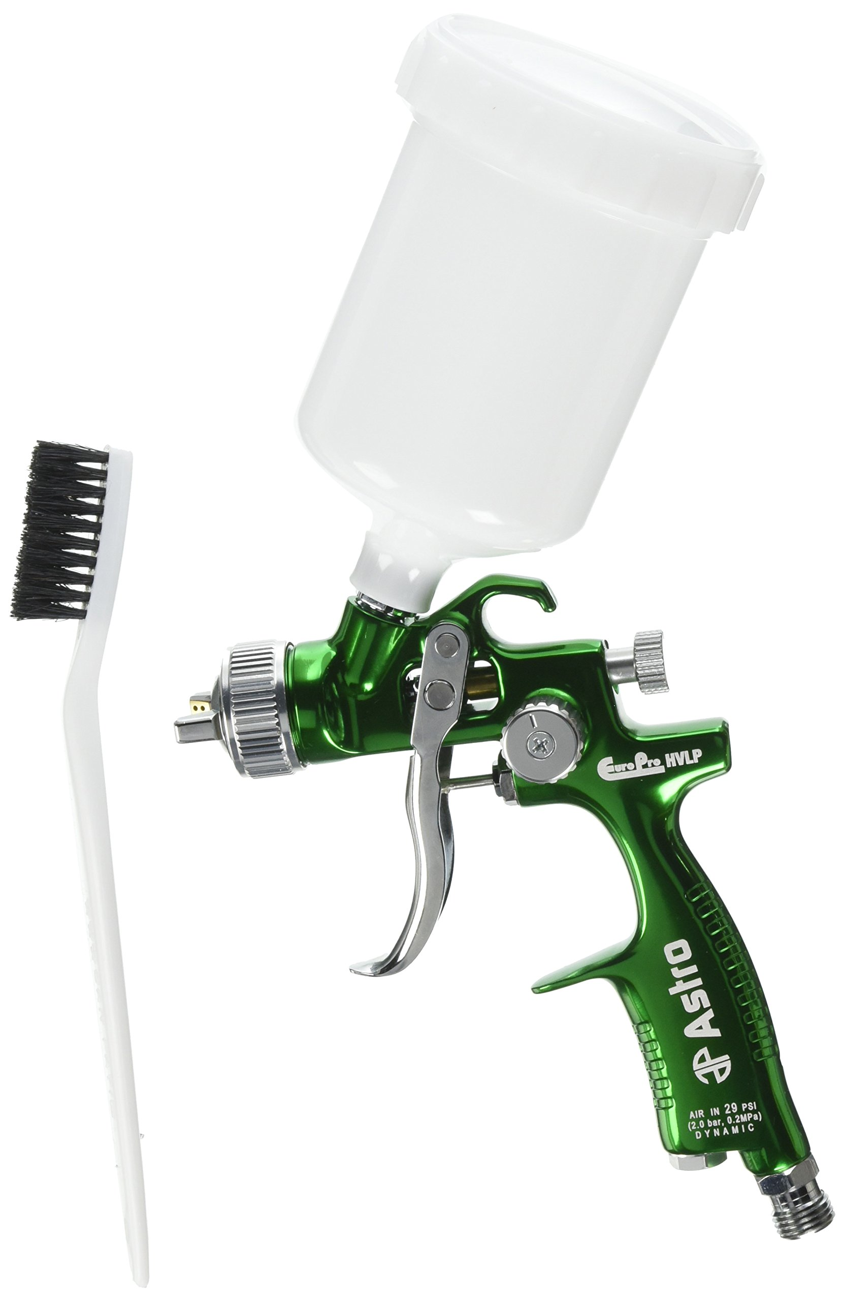 Astro EUROHVT1 EuroPro Forged HVLP Touch Up Gun with 1mm Nozzle and Plastic Cup