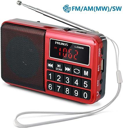 "Retekess Portable FM//AM 2 Band Digital Tuning Radio MP3 Music Player 1.2/"" LCD"