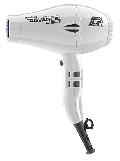 Parlux Advance Light - Secador de pelo ionico, Blanco