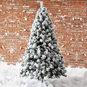 Artificial Snow Flocked Christmas Tree,7ft Hinged ...