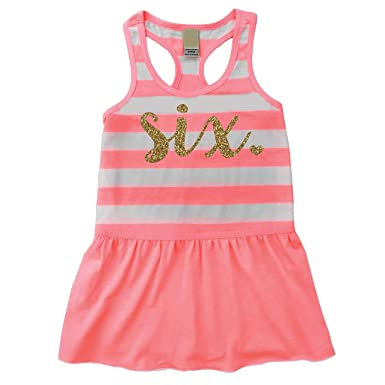 Bump And Beyond Designs Sixth Birthday Outfit Girl Six Year Old 6th Summer Tank Dress