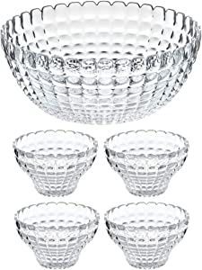 Guzzini Tiffany Mix & Share Acrylic Bowl and Serving Cup 5-Piece Server Set