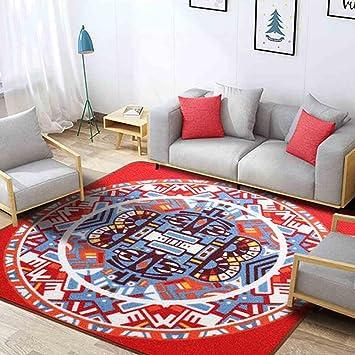 Amazon.de: Quadratischer Teppich Ethno-Stil Schlafzimmer Wohnzimmer ...