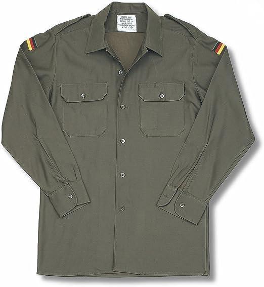Camisa original del ejercito aleman. Excedente militar. Verde Oliva. (Talla L): Amazon.es: Ropa y accesorios