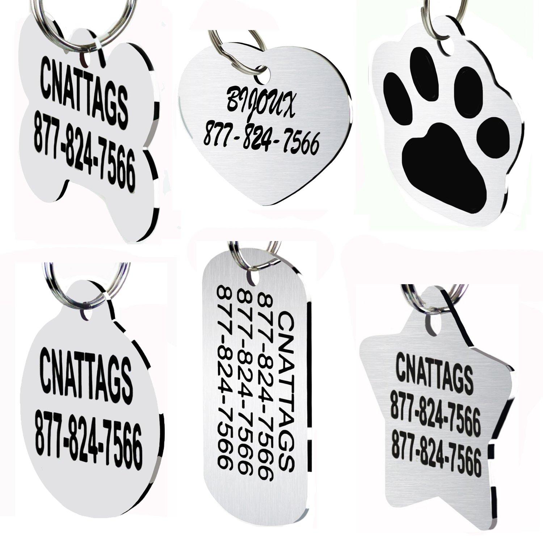 Personalizado Grabado photo//text Acero Inoxidable ejército Etiquetas de perro Etiqueta de identificación Caja De Regalo