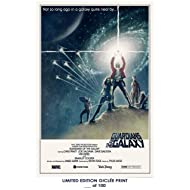 RARE POSTER thick GUARDIANS OF THE GALAXY movie 2014 star wars parody REPRINT #'d/100!! 12x18