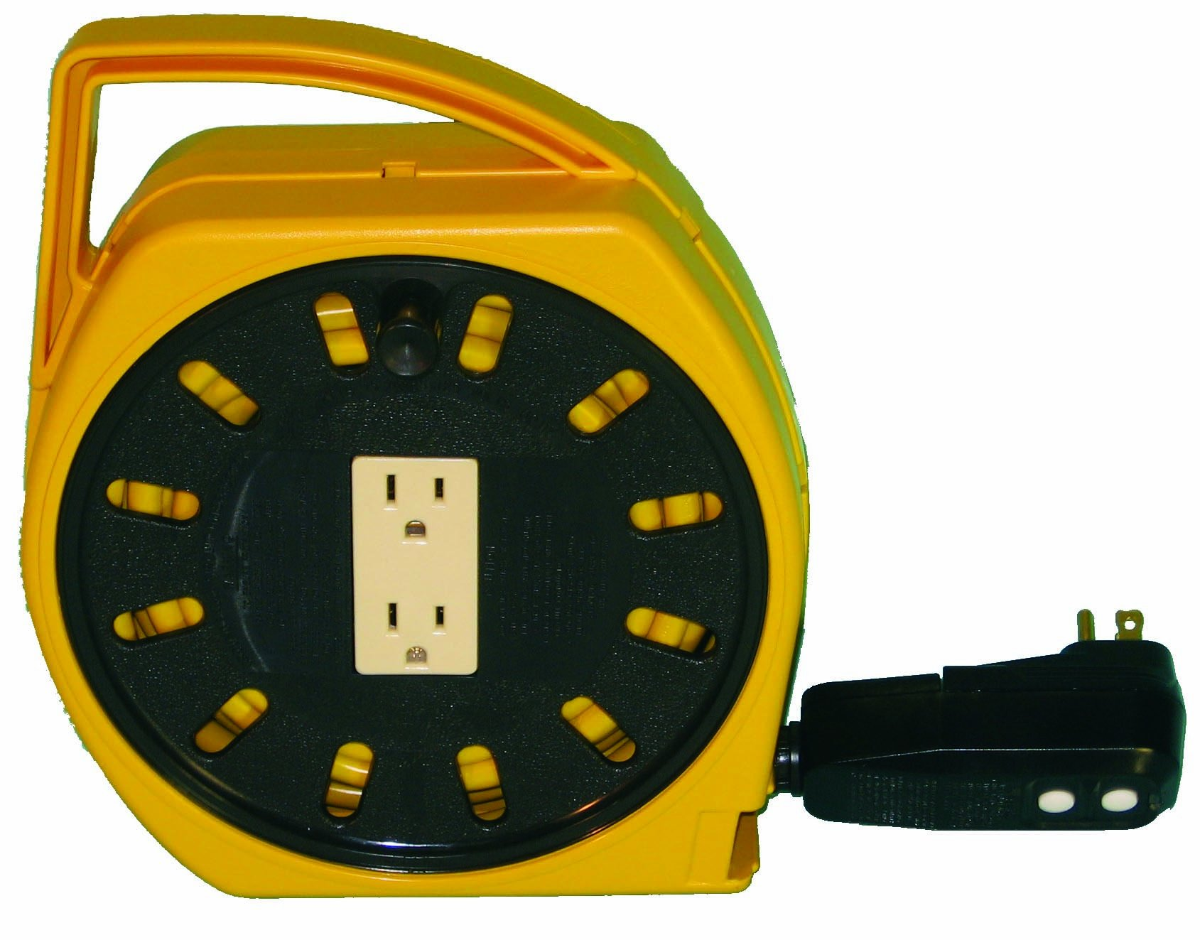 Alert Stamping 6000-20G-GF 20-Feet Multi-Outlet Wind-Up Reel with 2-Outlet and GFCI Protection