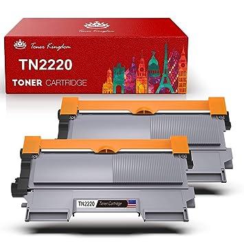 Compatible TN-2220 TN-2210 Cartucho de Tóner en Negro, Toner Kingdom, 2600 Páginas, Toner de Impresora de Reemplazo para Brother HL-2130 HL-2250DN ...