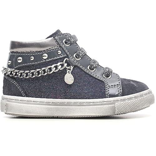 Nero Giardini Junior Bambina Sneaker Alta A621760F226 (24)  Amazon ... 49b4547ef2e
