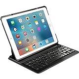 Inateck Deutsche iPad Bluetooth Tastatur, Keyboard Case für iPad Air 2/pro 9.7, Smart cover mit automatischer Wake/sleep Funktion und Multi-Angle Ständer schwarz