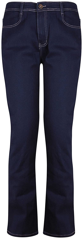 PurpleHanger Womens's Plus Size Straight Leg Stretch Denim Jeans Pants