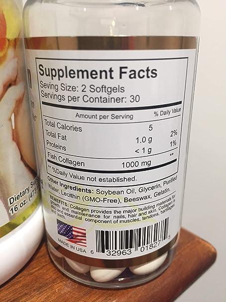 Set Liquid Biocollagen Hydrolized Collagen Plus Vitamin C/Biocollagen (1000 mg) 60 softgels/Promote...