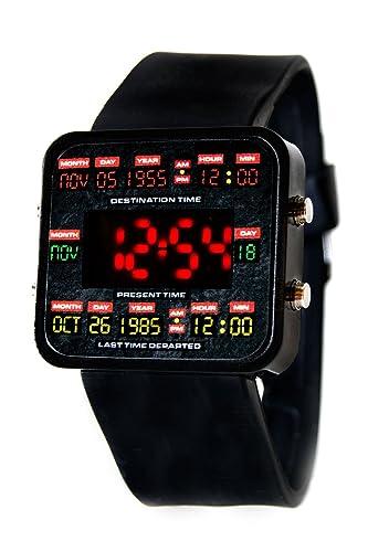 Nuevo Regreso al futuro reloj LED diseño de circuitos de tiempo digital reloj – Marty McFly