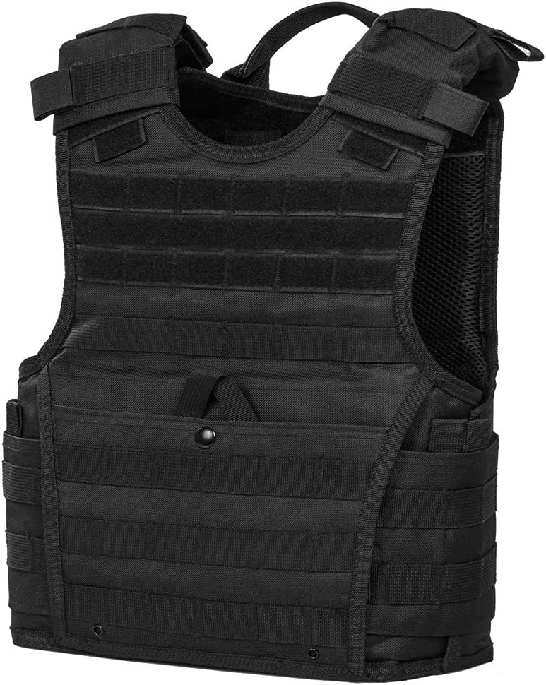 "ATG Tactical Expert Vest 8""X10"" MOLLE and PALS, Fully Adjustable, in black color, does not fit adult."