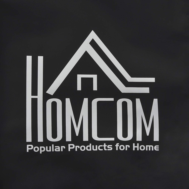 HOMCOM Cofre Bolsa de Techo Impermeable Plegable Baca de Coche con Tejido Resistente Port/átil para Largo Viaje Capacidad 424 litros Carga 80 kg 114x87x45 cm Negro
