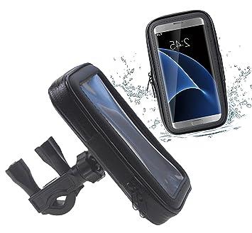 DaoRier Agua Densidad Bicicleta Moto Bike Carcasa ABS 360 grados Soporte universal bicicleta manillar Soporte para teléfono móvil impermeable para ...