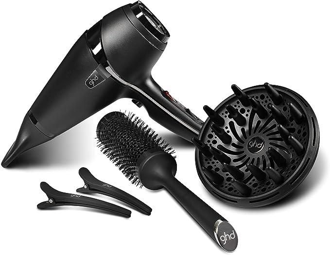 ghd Air Kit - Secador de pelo profesional con tecnología iónica, difusor, cepillo cerámico y 2 clips ghd, color negro: Amazon.es: Salud y cuidado personal