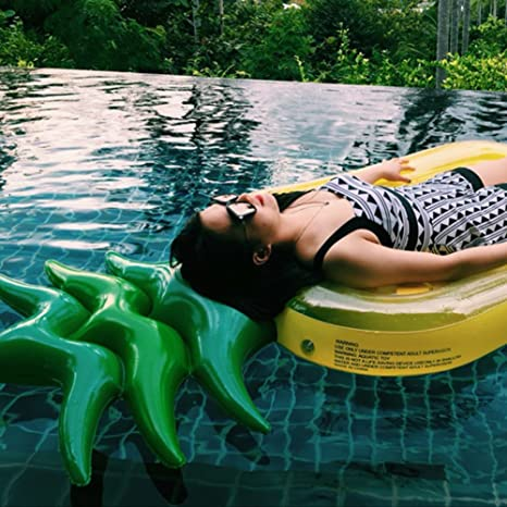 Amazon.com: DMGF Inflatable Pool Float Pineapple Raft Giant Loungers Summer Outdoor Swimming Floats Beach Water Sport Toy For Adults Kids: Sports & Outdoors