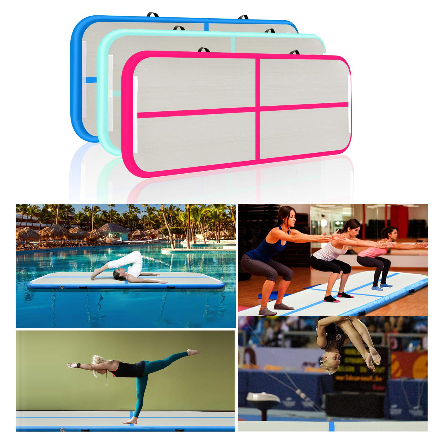 Amazon.com: Royallight - Colchoneta hinchable para gimnasia ...
