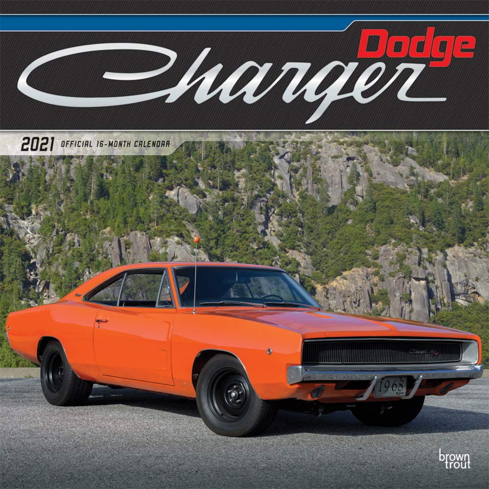 2021 Rut Calendar Dodge Charger 2021 12 x 12 Inch Monthly Square Wall Calendar with