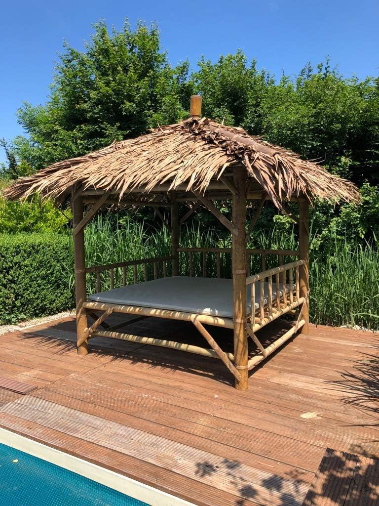 Reelaxx - Cenador de bambú, marrón: Amazon.es: Jardín