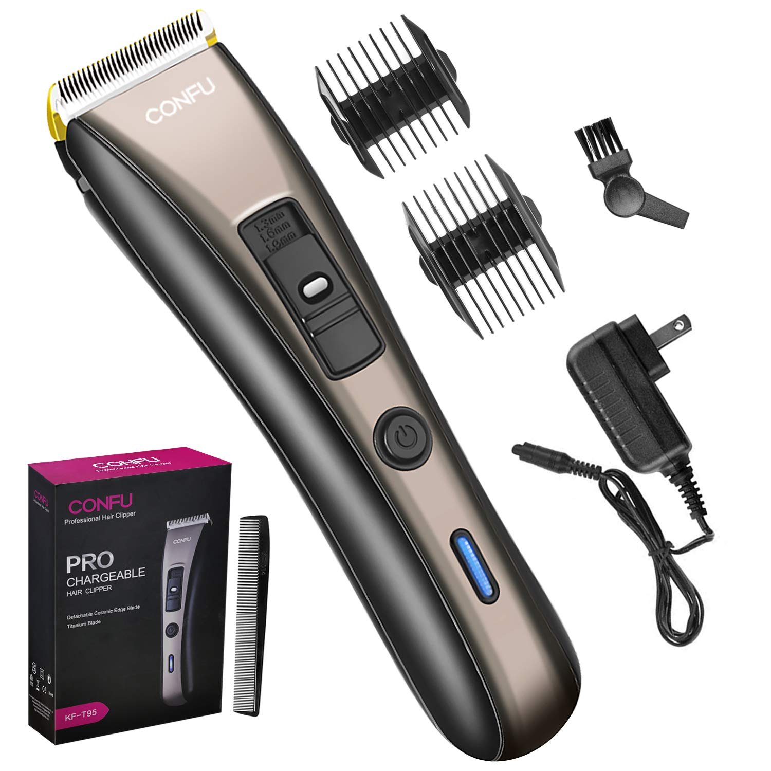 Cordless Hair Cutting Clippers and Beard Trimmer, Barber Hair Cutting Kit,  Professional Hair Trimmers Haircut Kit Rechargeable Hair Removal Machine,