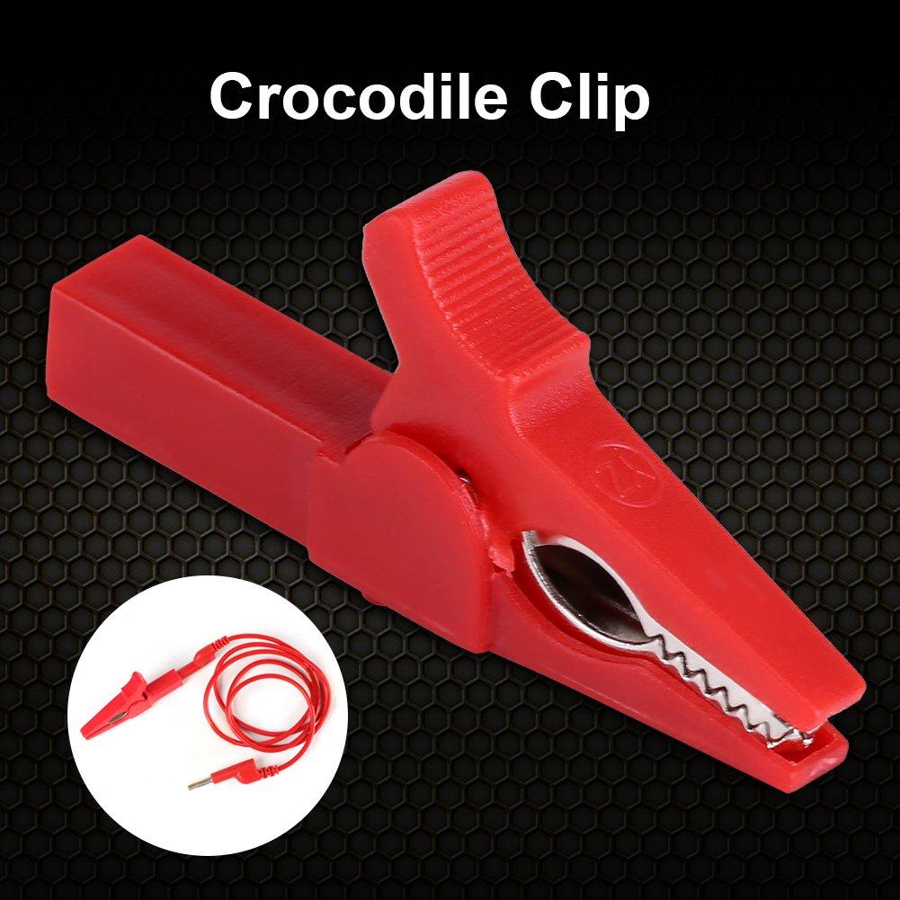 Rot GLOGLOW 1000 V 32A Voll Isolierte 55mm Krokodilklemme Alligatorklemmen Test Auto Fahrzeug Batterie Kabel Drahtklemme