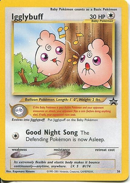 Amazon Com Wizards Of The Coast Pokemon Black Star Promo Trading Card 36 Igglybuff Toys Games