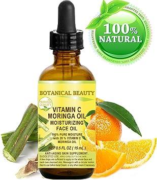 VITAMIN C MORINGA Aceite facial. Anti-envejecimiento, hidratante, regenerador y nutritivo.