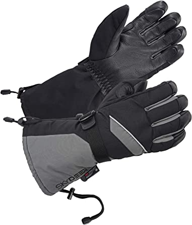 Brown Insulated Windproof Lightweight Lady Ski Gloves