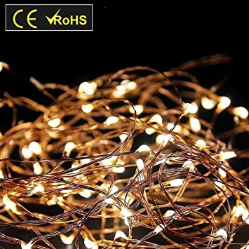Amazon.com : Ulight LED String Lights with USB Power Adapter (33Ft ...