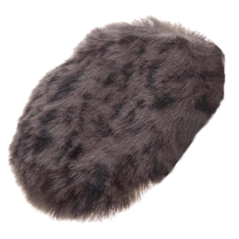 Earbags Fashion Ohrenwärmer Ohrenschützer Mütze Stirnband Warme Ohren Original Strick Fell Leder, Farbe Kunstfell Wolf, Größe M Größe M