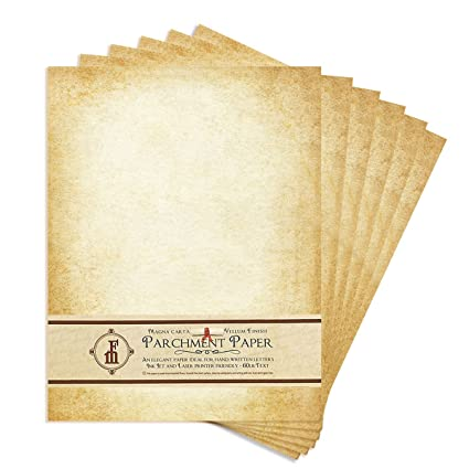Amazon Com Aged Look Parchment Stationery Paper For Writing And