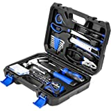 49-Piece Small Home Tool Kit, PROSTORMER General Household Repair Tool Set with Tool Box Storage Case - Great Gift for…